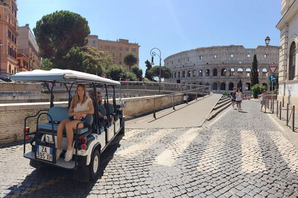 the-colosseum-and-the-golf-cart
